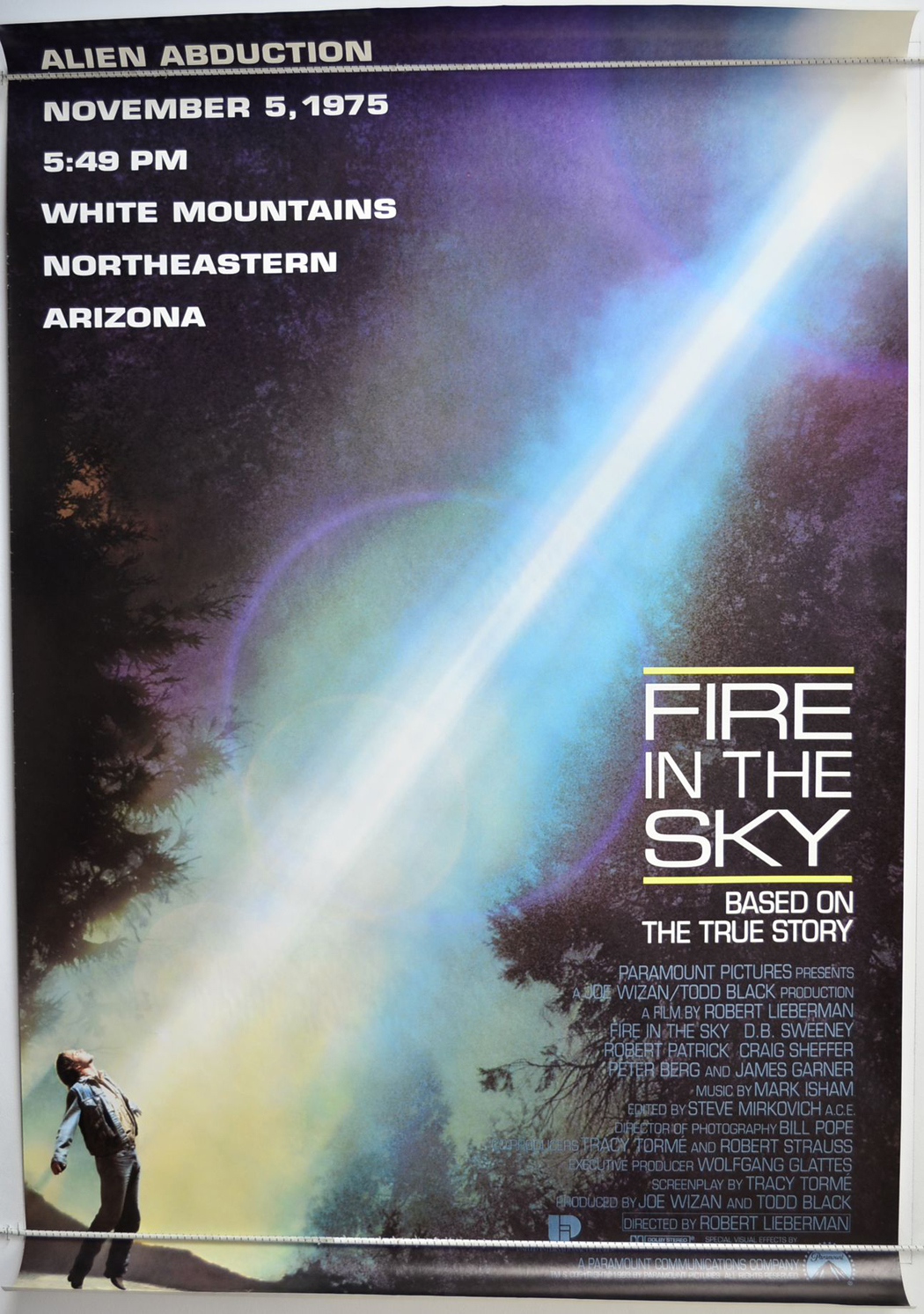 fire in the sky usa subway one sheet original cinema movie poster from. Black Bedroom Furniture Sets. Home Design Ideas