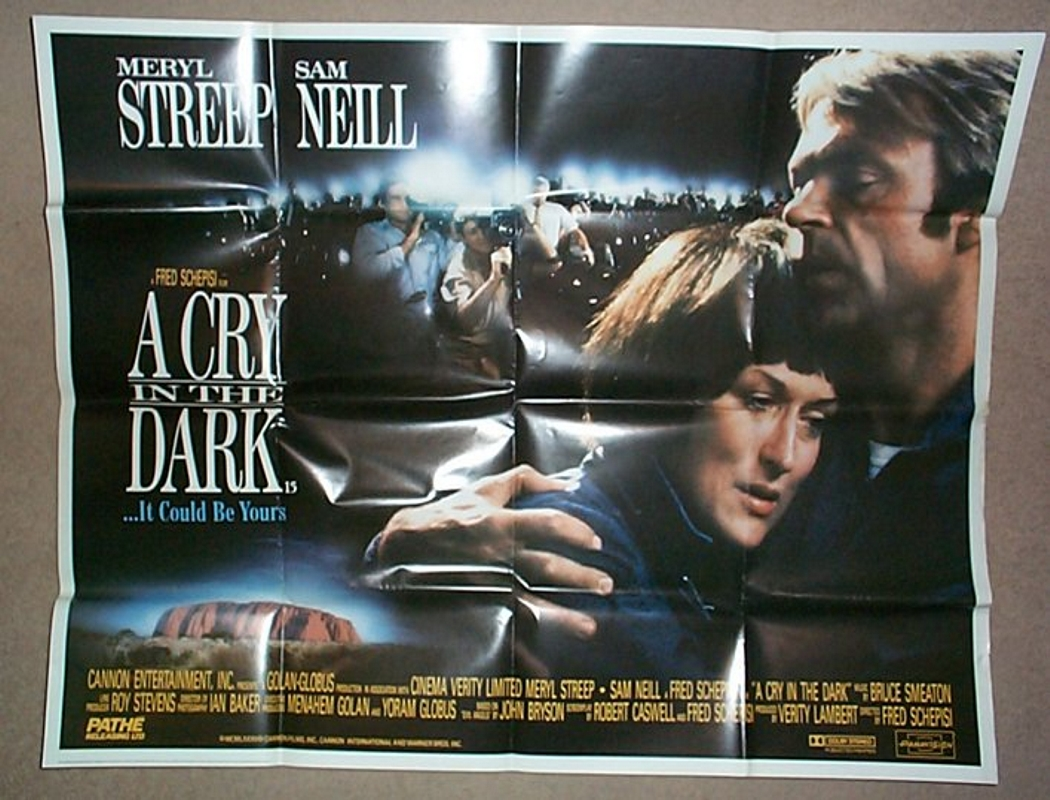 1988 Movie Posters: A CRY IN THE DARK (1988) Cinema Quad Movie Poster