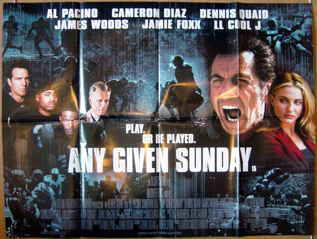 any given sunday original cinema movie poster from