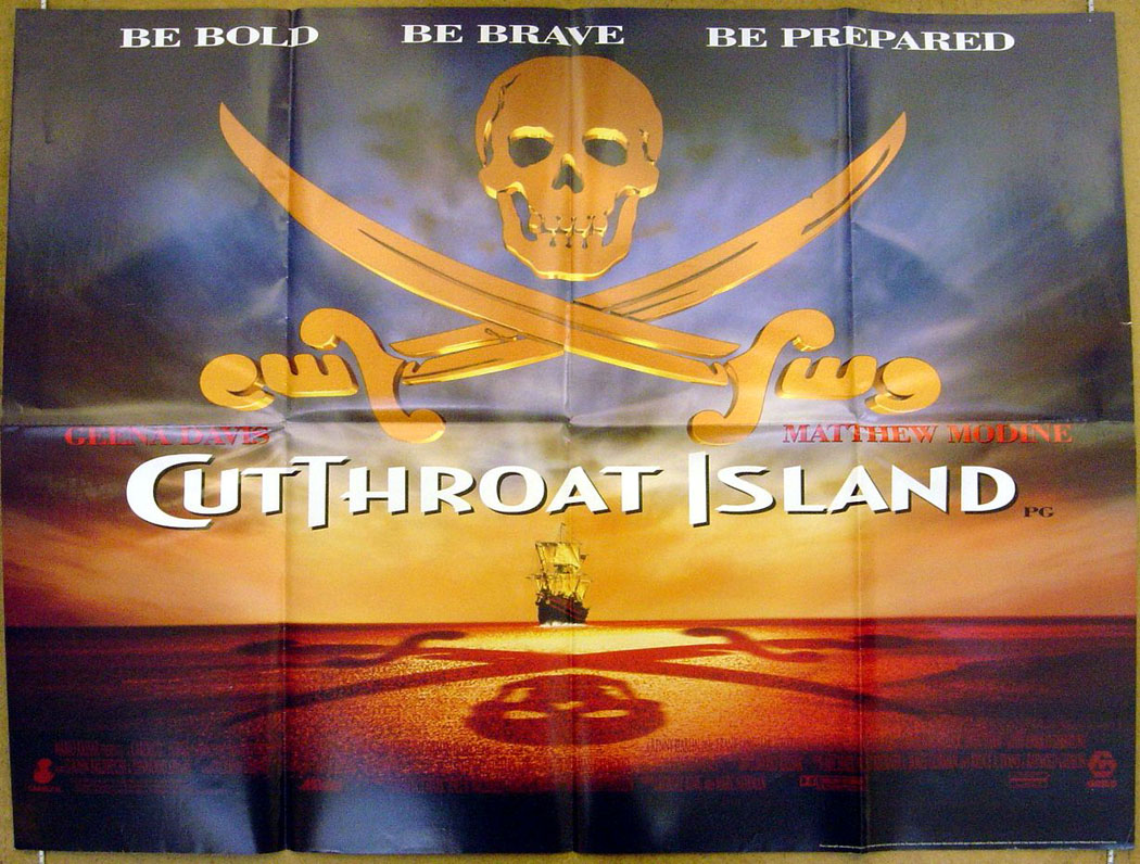 Cutthroat Island (Teaser) - Original Cinema Movie Poster ...