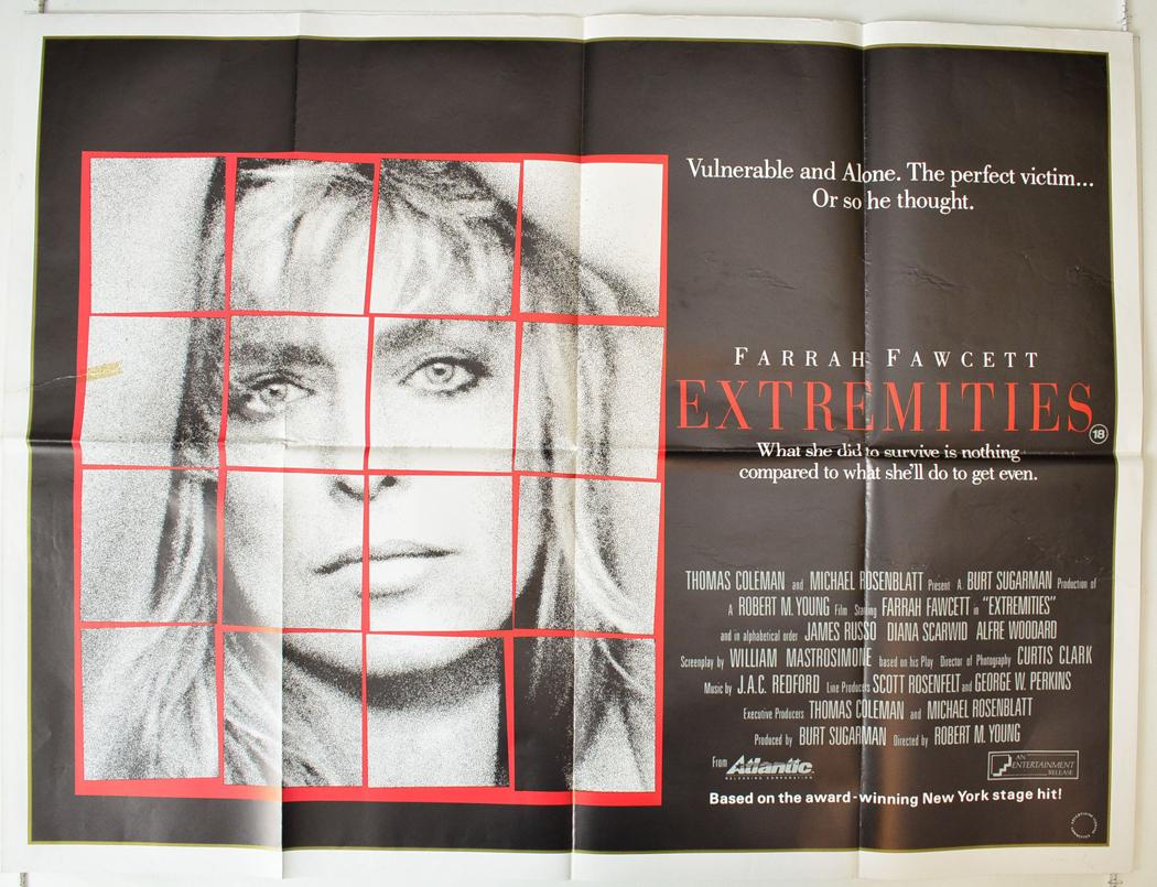 EXTREMITIES (1986) Original Quad Film Poster - Farrah ...
