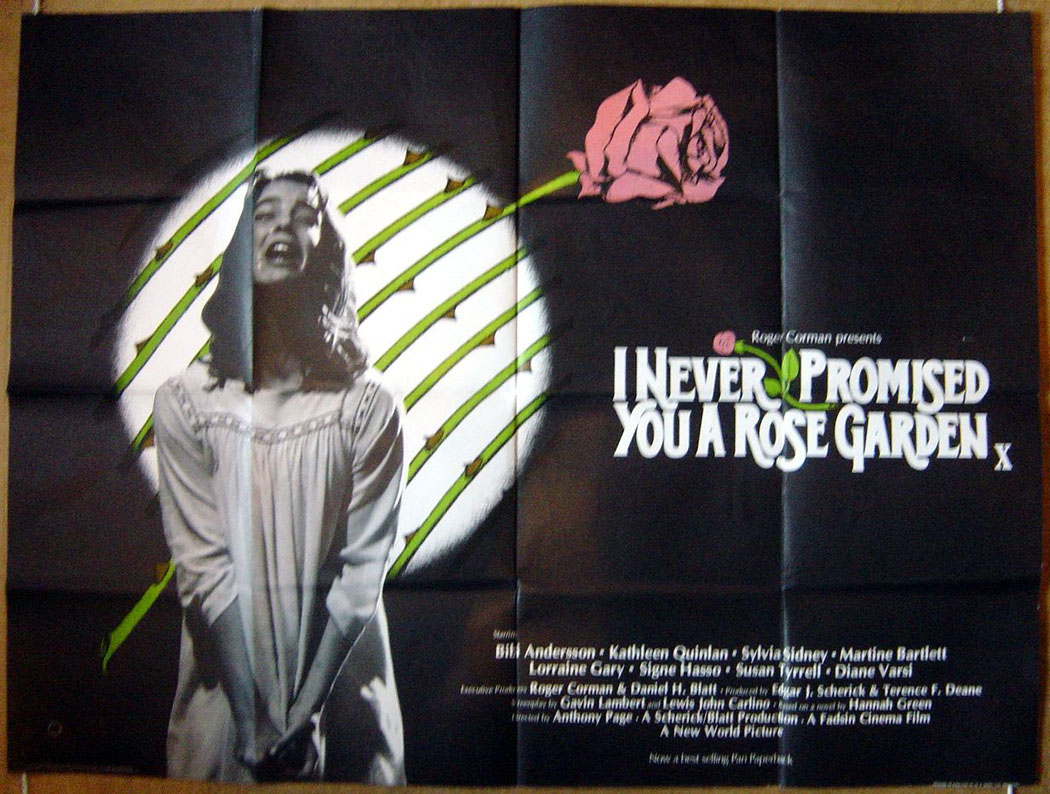 I Never Promised You A Rose Garden Original Cinema Movie Poster From British