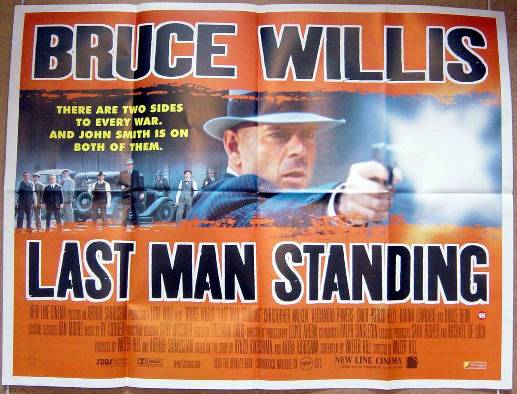 last man standing original cinema movie poster from