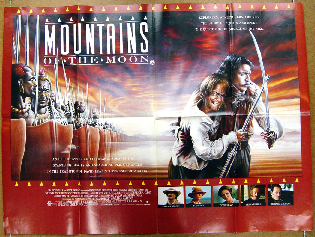 mountains of the moon original cinema movie poster from british quad posters. Black Bedroom Furniture Sets. Home Design Ideas