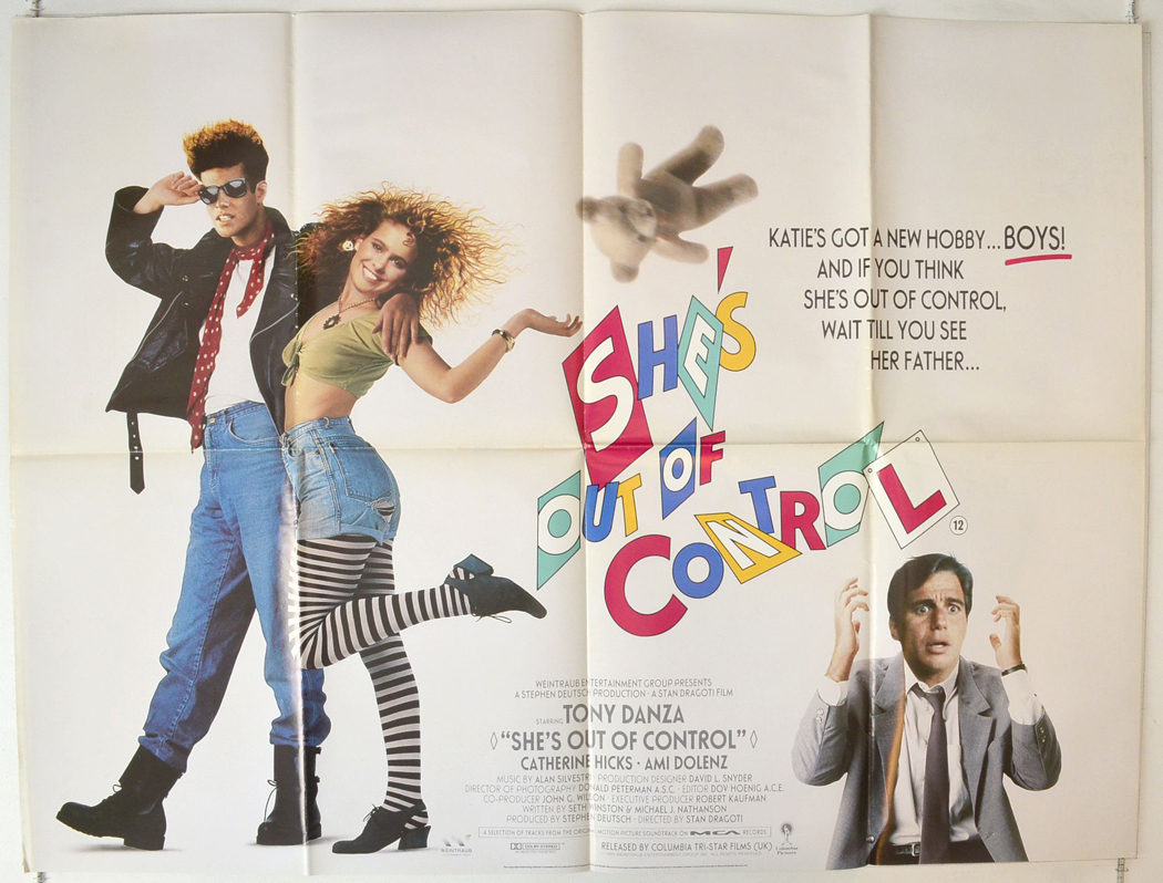 SHES OUT OF CONTROL 1989 Cinema Quad Poster Tony Danza ...