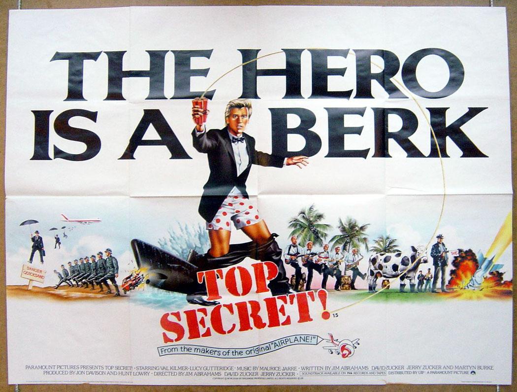 Top Secret - Original Cinema Movie Poster From pastposters ...