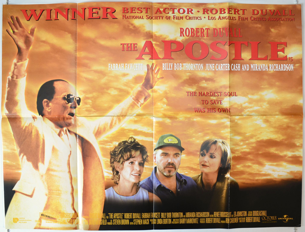 a review of the 1997 film the apostle by robert duvall Rent the apostle (1997) starring robert duvall and farrah fawcett on dvd and  blu-ray get unlimited dvd movies & tv shows delivered to your door with no  late fees, ever fast, free delivery  227 reviews no matter what your view on.