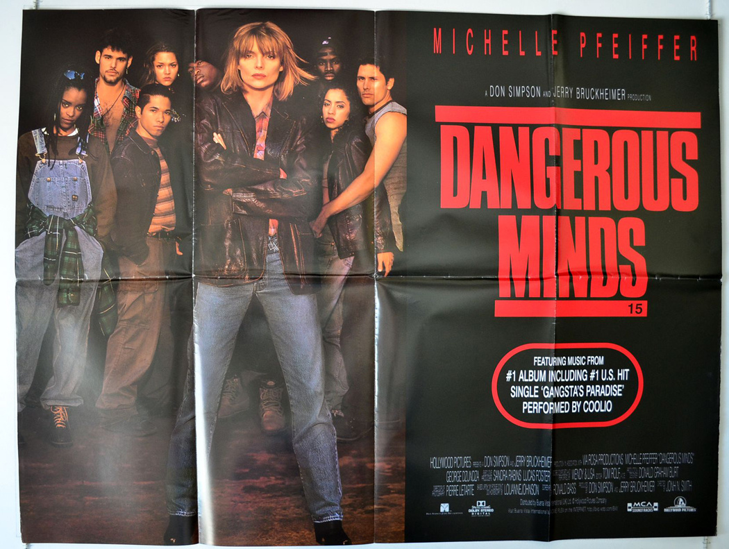 dangerous minds original cinema movie poster from  dangerous minds view larger image