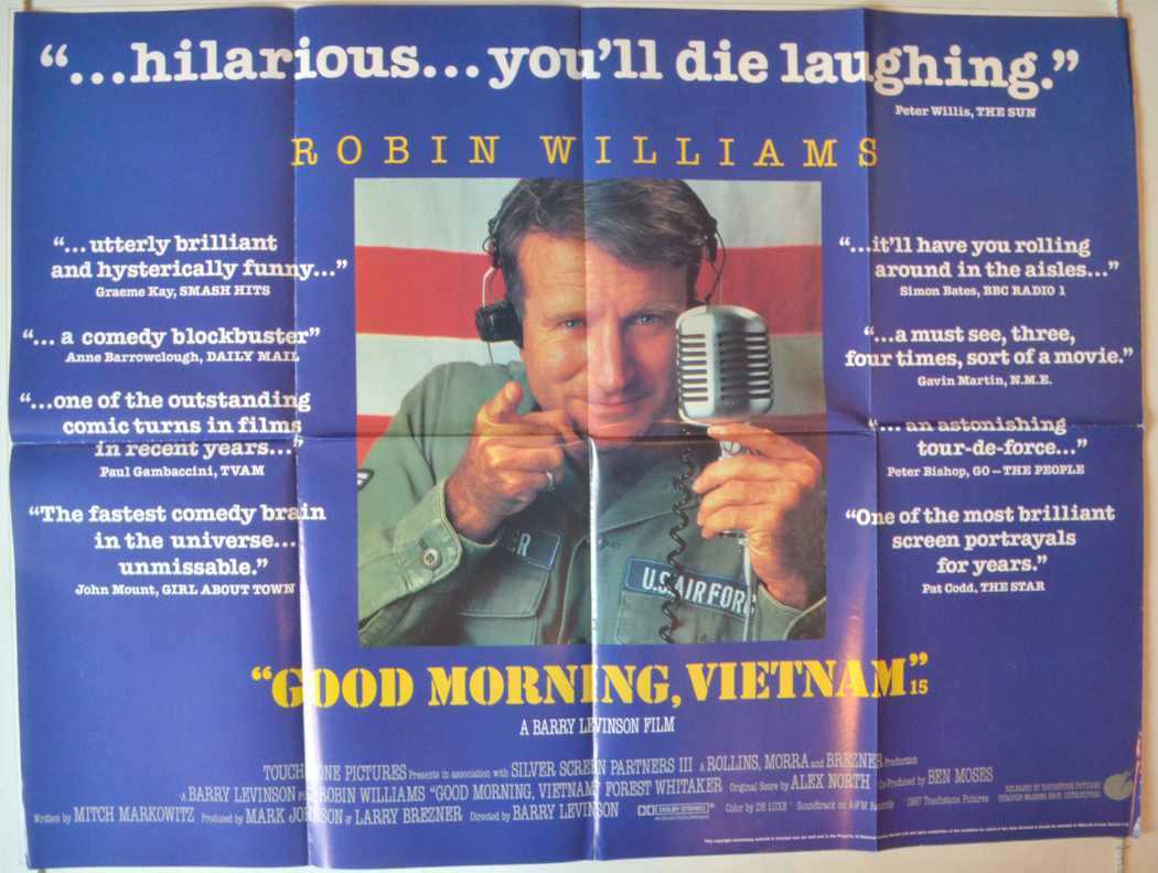 title good morning vietnam quotes version original quad poster film ...