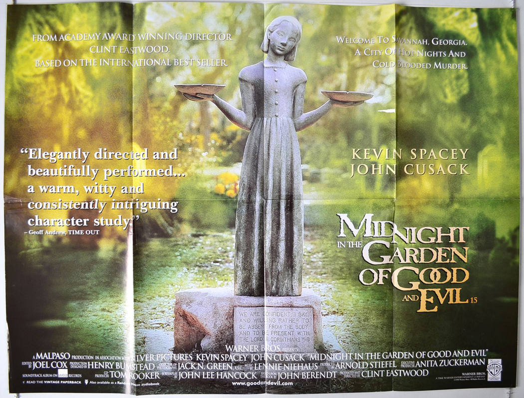 Midnight in the garden of good and evil original cinema movie poster from In the garden of good and evil movie
