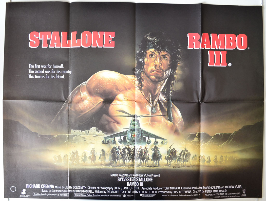 Rambo III (a.k.a. Rambo3) - Original Cinema Movie Poster ...