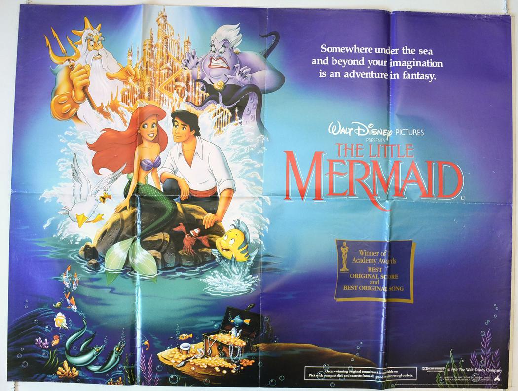 little mermaid the original cinema movie poster from