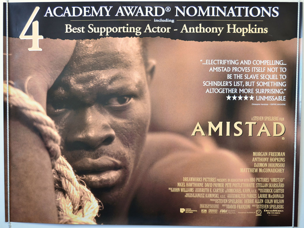 amistad movie review Amistad review steven spielberg's amistad is centered on the legal status of africans caught and brought to america on a spanish slave ship.