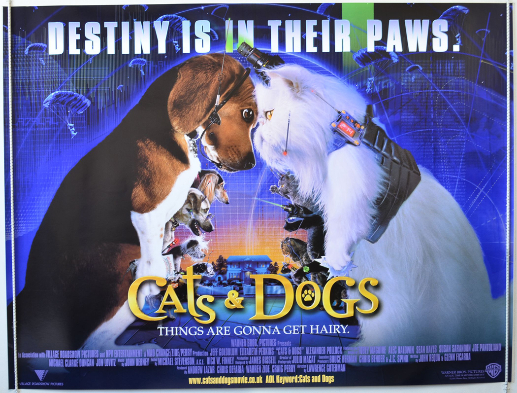 CATS AND DOGS (2001) Original Quad Movie Poster - Jeff ...  CATS AND DOGS (...