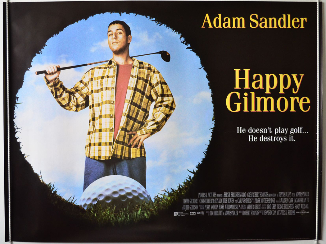 happy gilmore an overview In happy gilmore, sandler plays the title character, a raw, determined, but  ultimately untalented hockey player who keeps trying out for the pros.