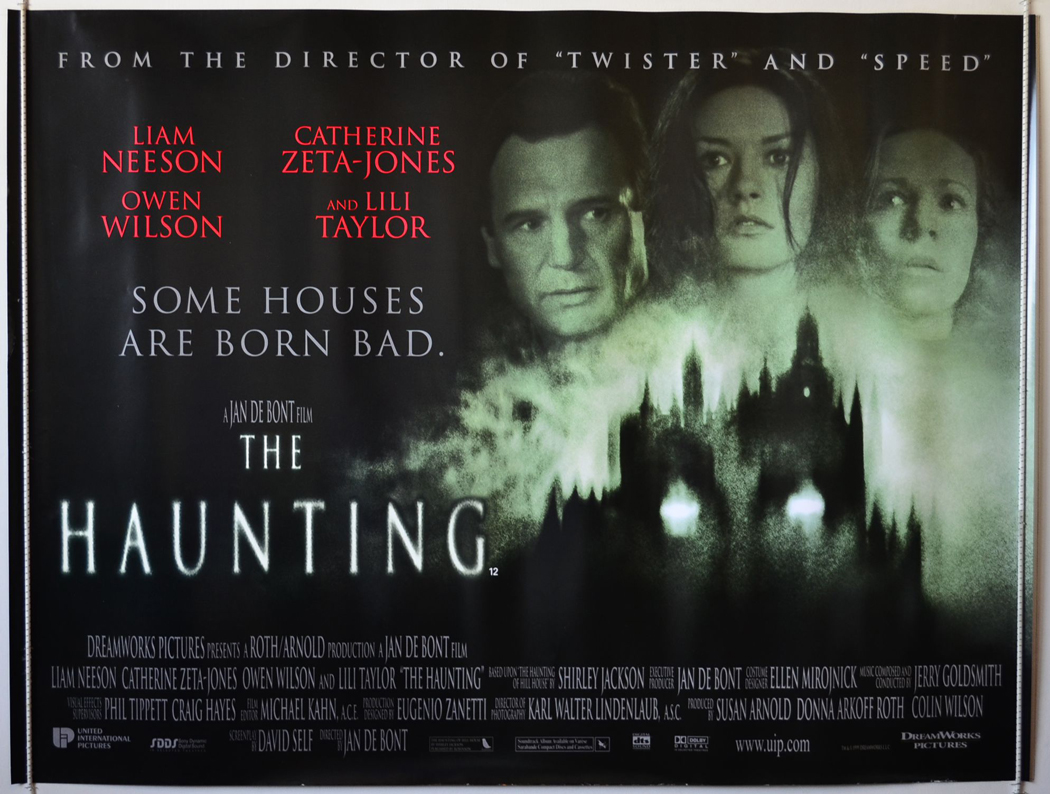 Movie Posters 1999: THE HAUNTING (1999) Original Quad Film Poster Liam Neeson