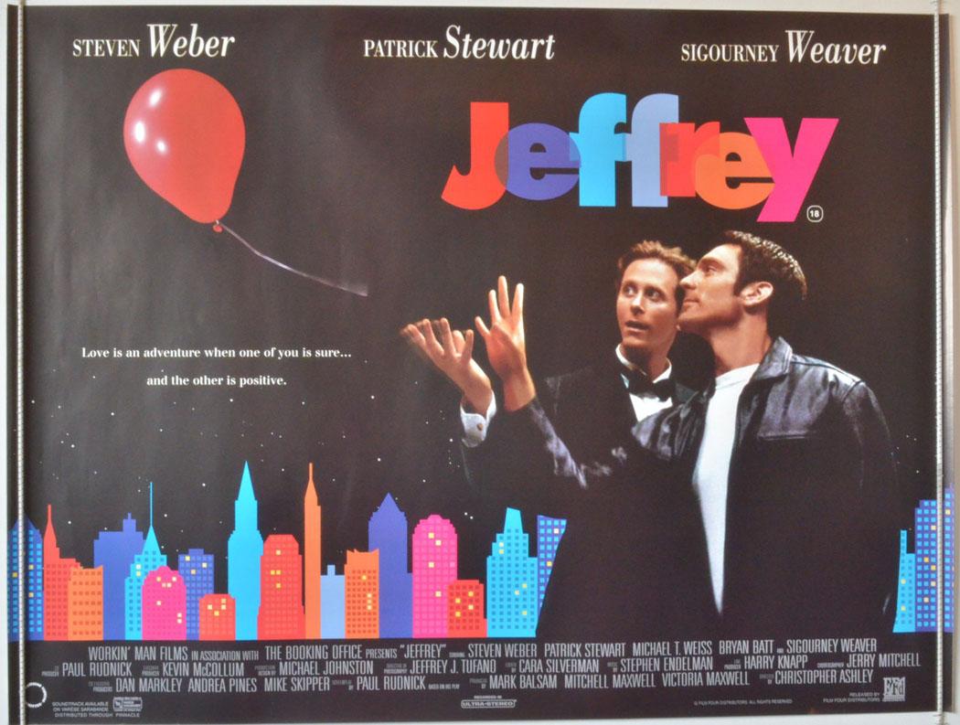 1995 Movie Posters: JEFFREY (1995) Original Cinema Quad Film Poster