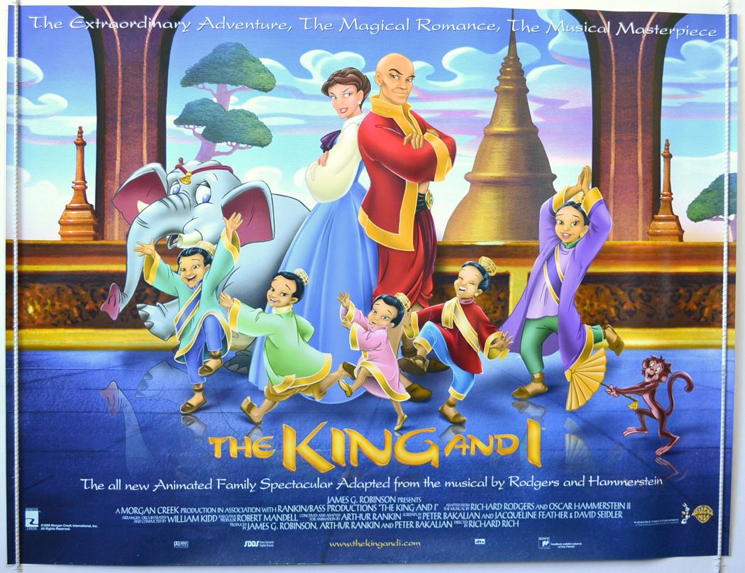 The King And I 1999 Original Cinema Quad Film Poster