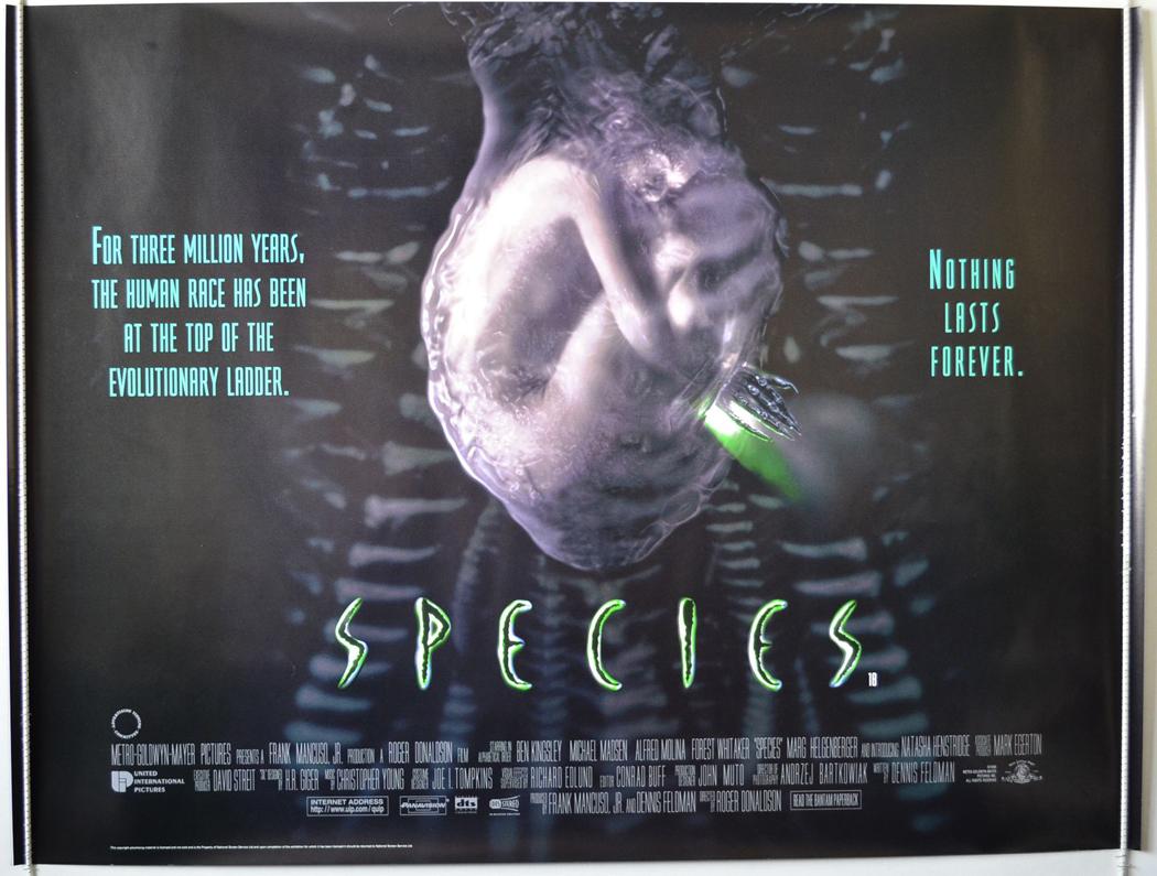 Species 1995 Original Quad Film Poster Natasha