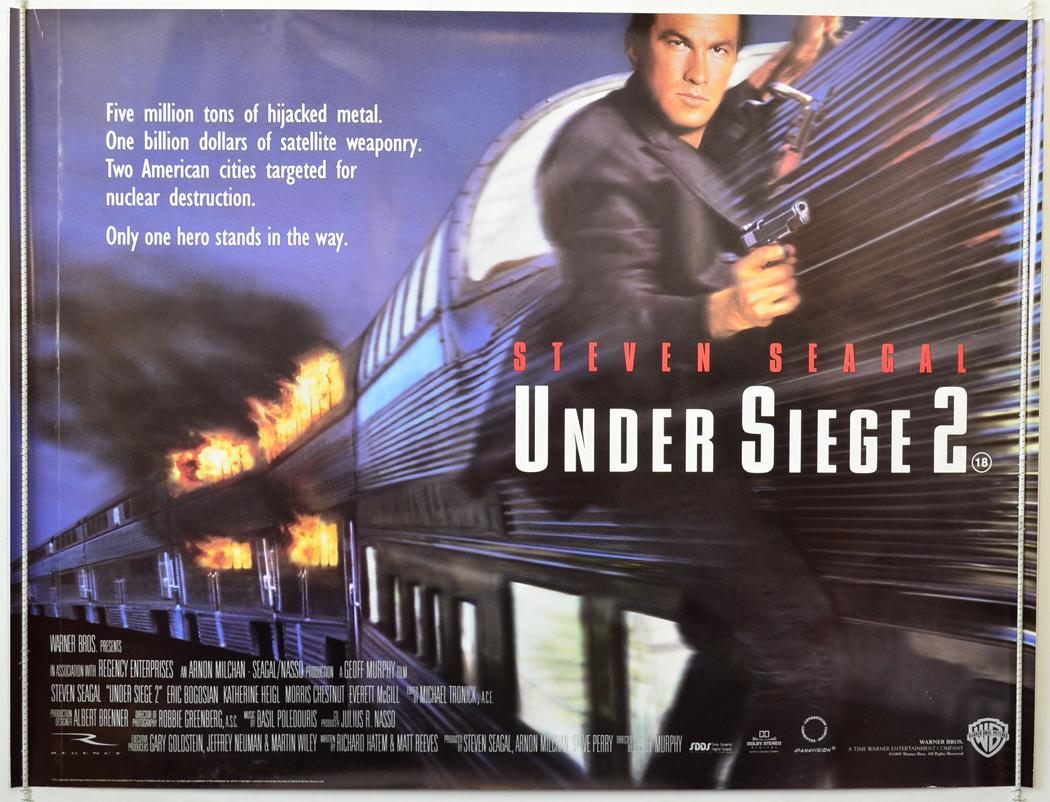1995 Movie Posters: UNDER SIEGE 2 (1995) Cinema Quad Movie Poster