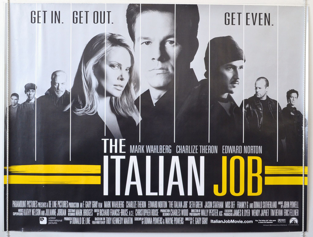 Movie Posters 2003: The Italian Job (2003) Movie