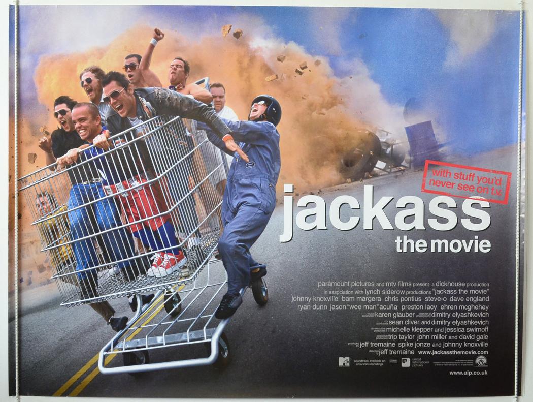 jackass the movie original cinema movie poster from