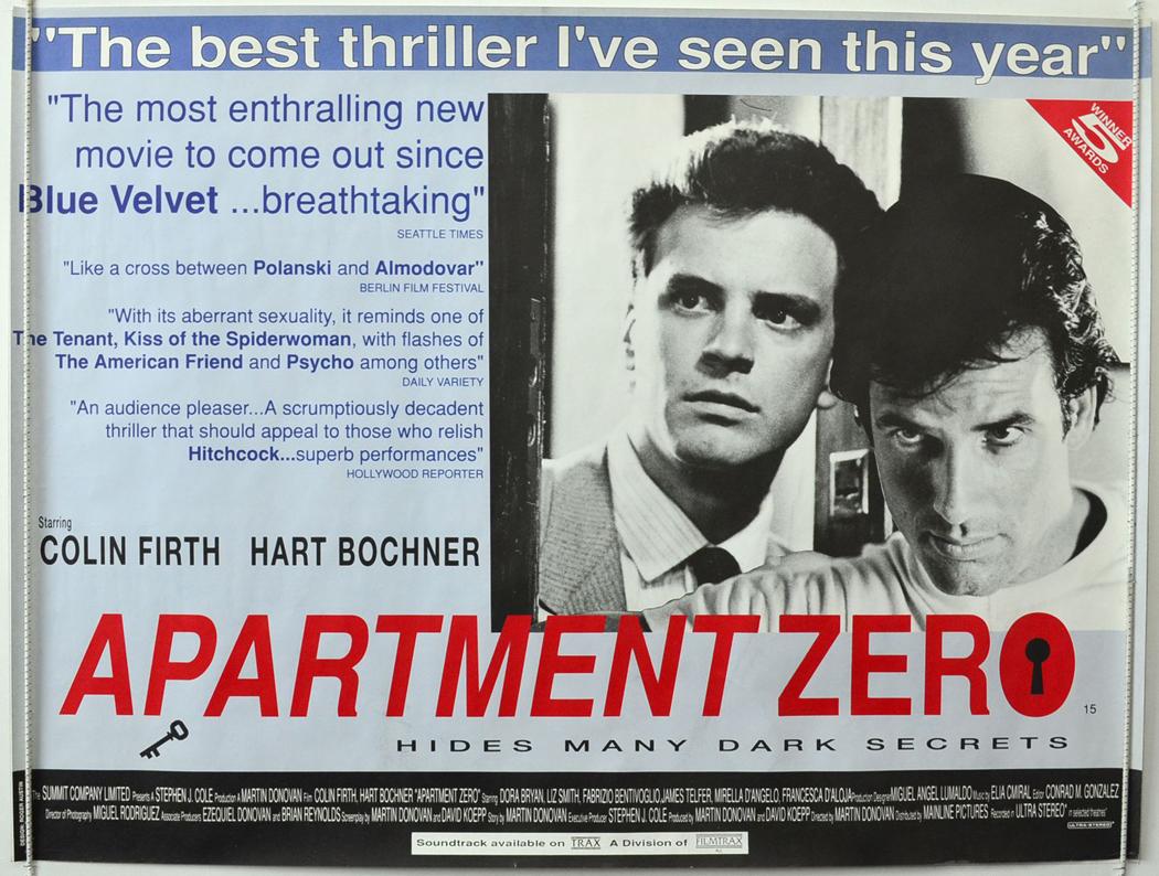 apartment zero original cinema movie poster from