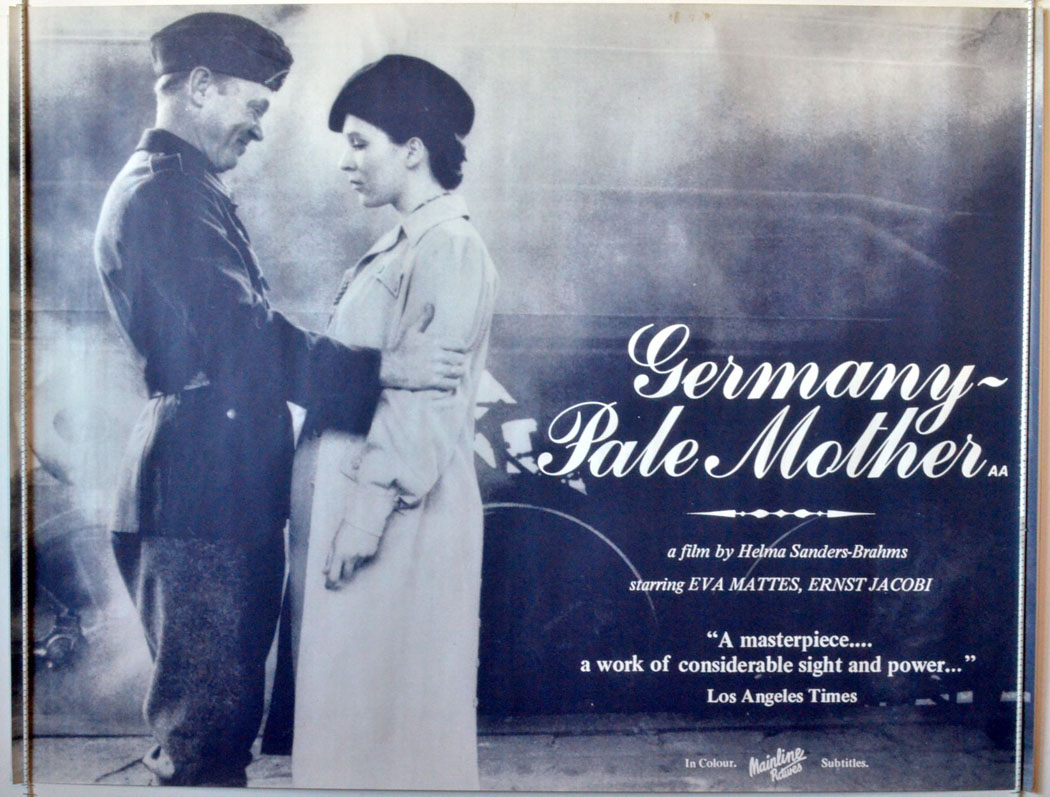 an analysis of the movie germany pale mother Analysis chapter 5 is  elizabeth then turns into his mother, caroline, whom he pictures being held in his own arms  his thin and pale condition, and tiredness.
