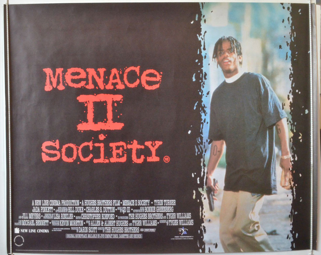 """menace ii society Believe it or not, """"menace ii society"""" was released over twenty years ago the film launched the careers of albert and allen hughes (""""from hell"""", """"book of eli""""), who made the film when they were just twenty years old while the film proved to be a critical and commercial hit at the time."""