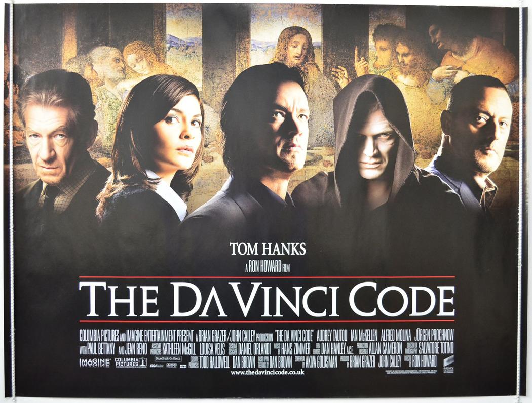 da vinci code the original cinema movie poster from