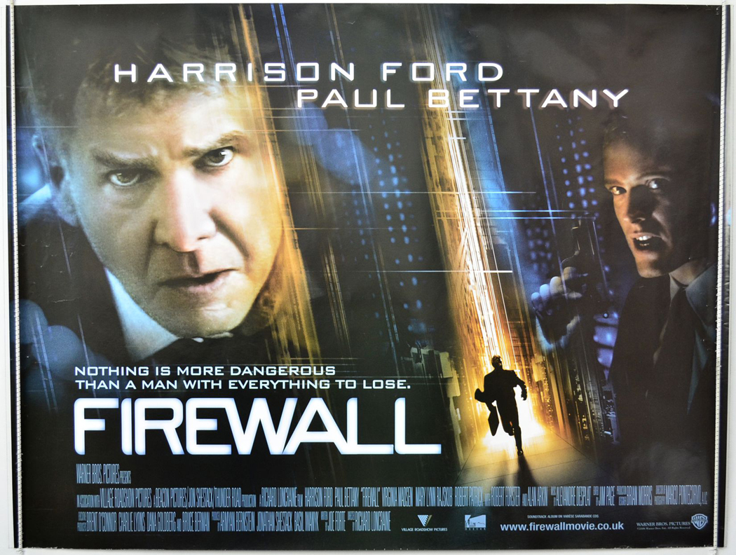 firewall original cinema movie poster from pastposters