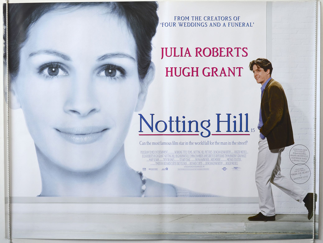 Notting Hill Original Cinema Movie Poster From