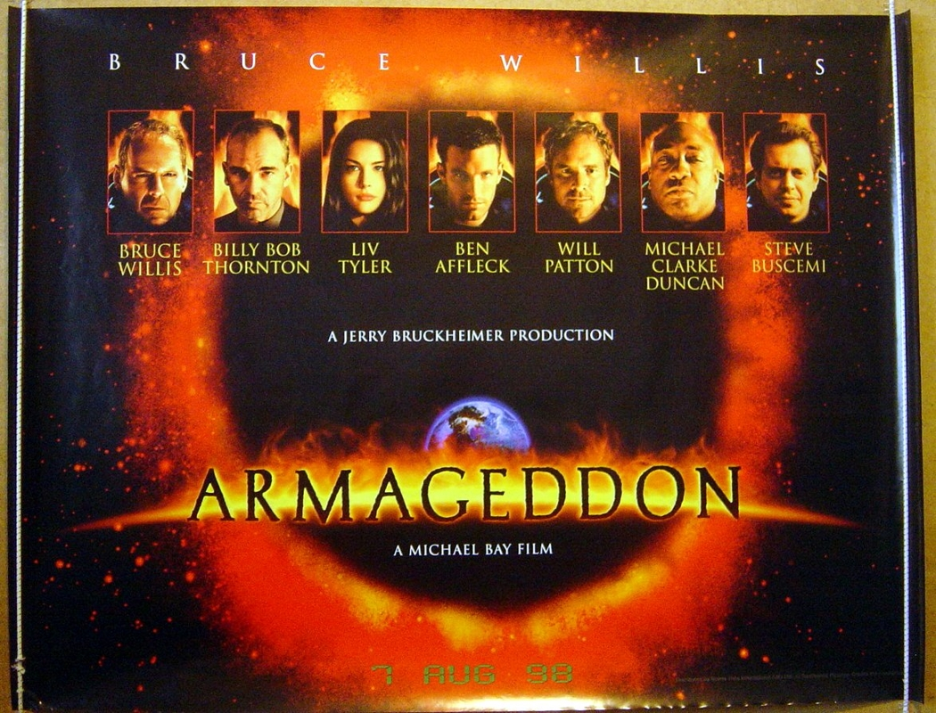 armageddon the movie Read the armageddon movie synopsis, view the movie trailer, get cast and crew information, see movie photos, and more on moviescom.