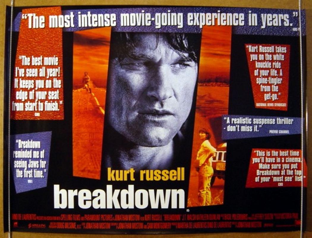 Movie Posters 1997: BREAKDOWN (1997) Original Cinema Quad Movie Poster