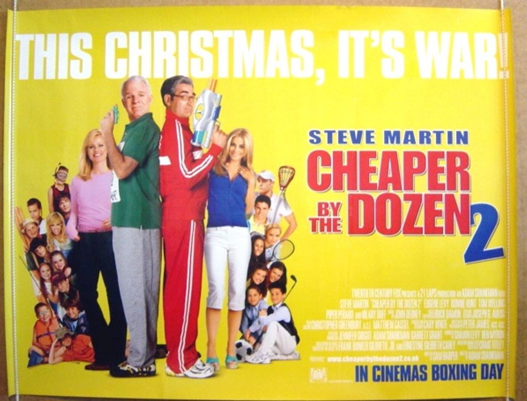 cheaper by the dozen 2 original cinema movie poster from