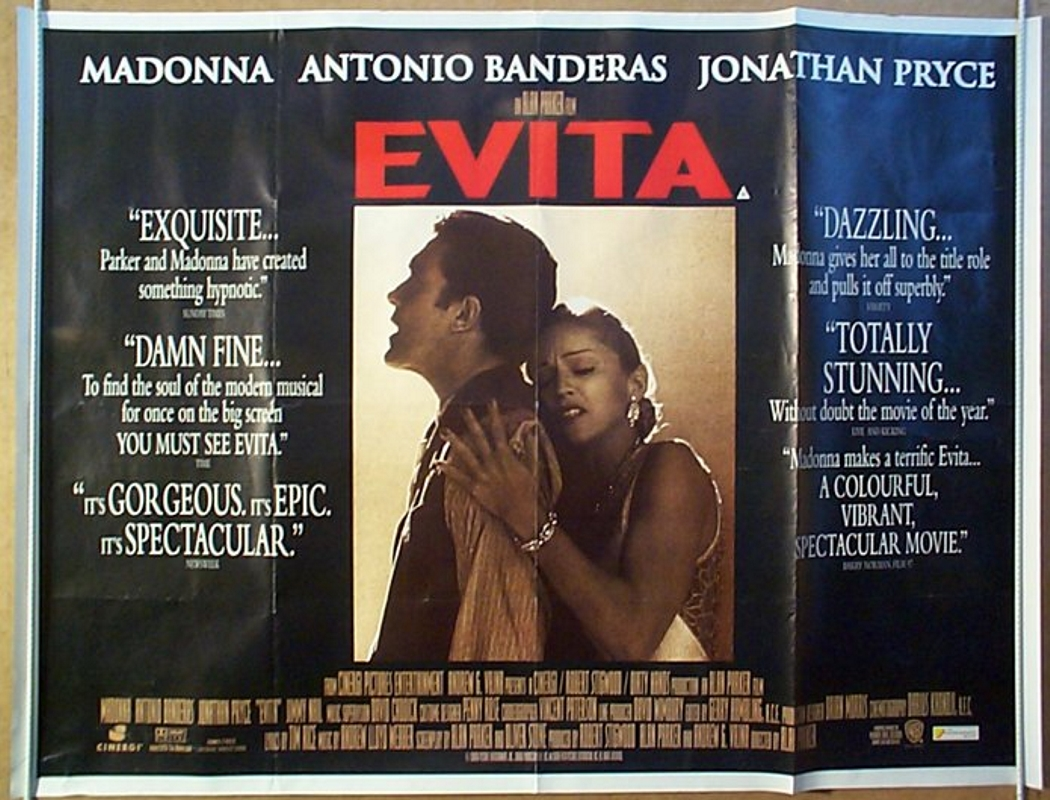 an analysis of evita a movie by alan parker Evita (1996):the hit musical based on the life of evita duarte, a b-picture argentinian actress who eventually became the wife of argentinian president juan perón.