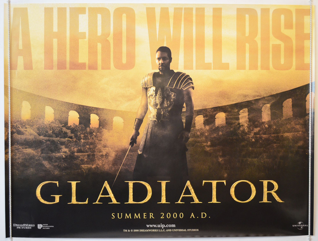 Movie Posters 2000: GLADIATOR (2000) Original Quad Film Poster (Teaser