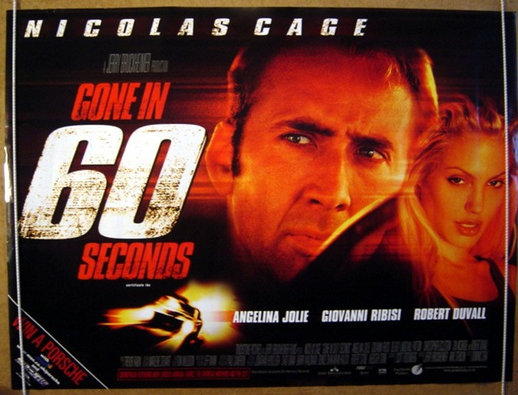 gone in 60 seconds original cinema movie poster from