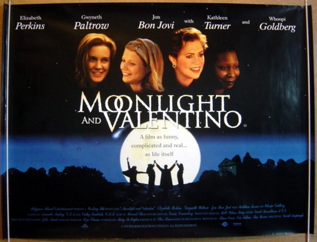 1995 Movie Posters: MOONLIGHT & VALENTINO (1995) Cinema Quad Movie Poster