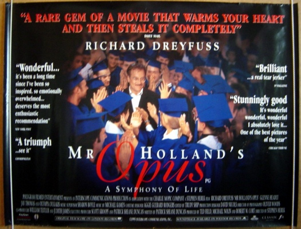 movie review on mr holland opus Mr holland's opus is a 1995 american drama film directed by stephen herek, produced by ted field, robert w cort, and michael nolin, and written by patrick.