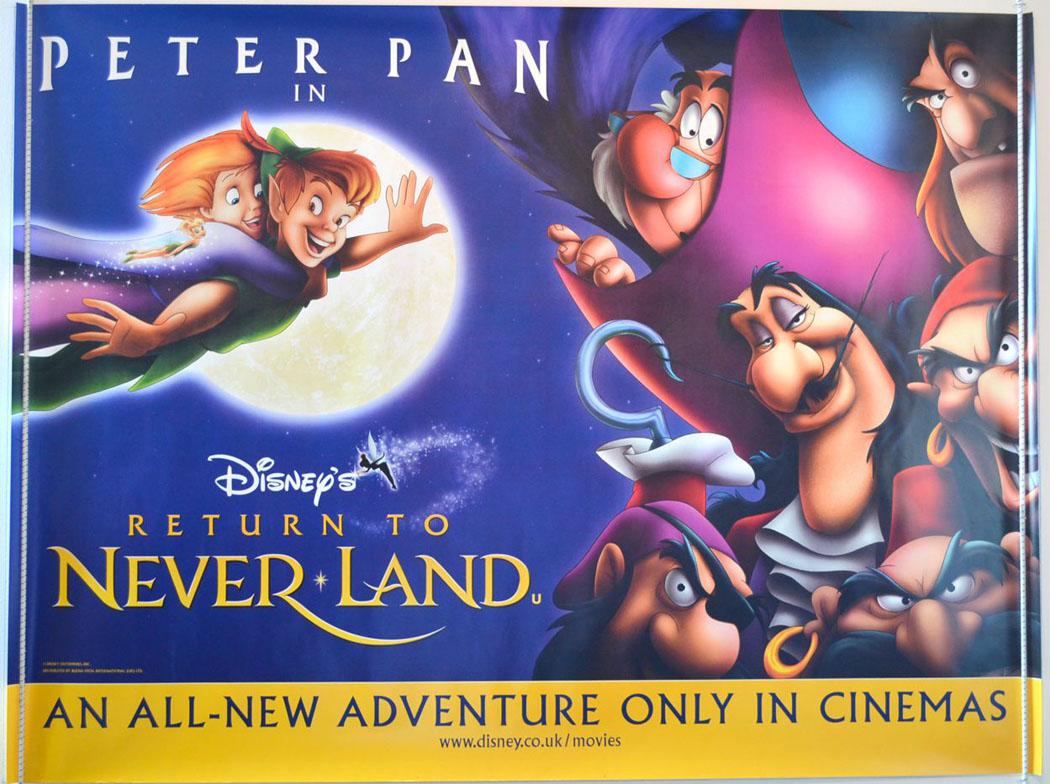 Return To Neverland Original Cinema Movie Poster From