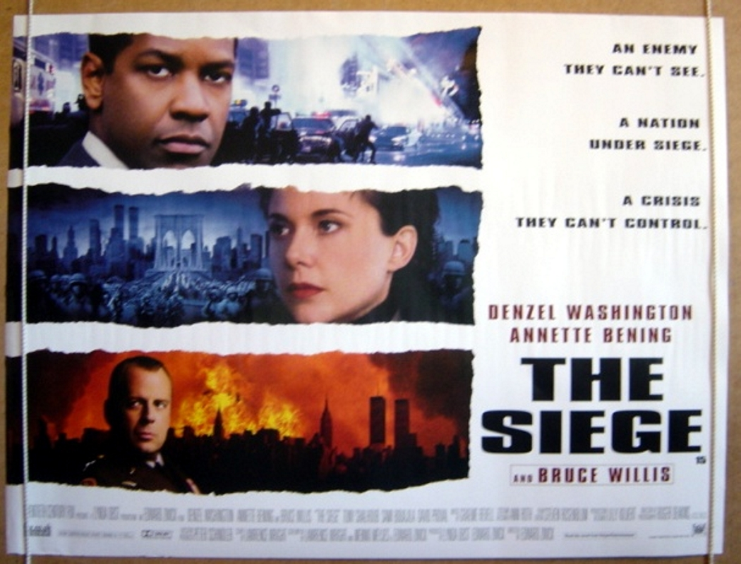 siege the original cinema movie poster from. Black Bedroom Furniture Sets. Home Design Ideas