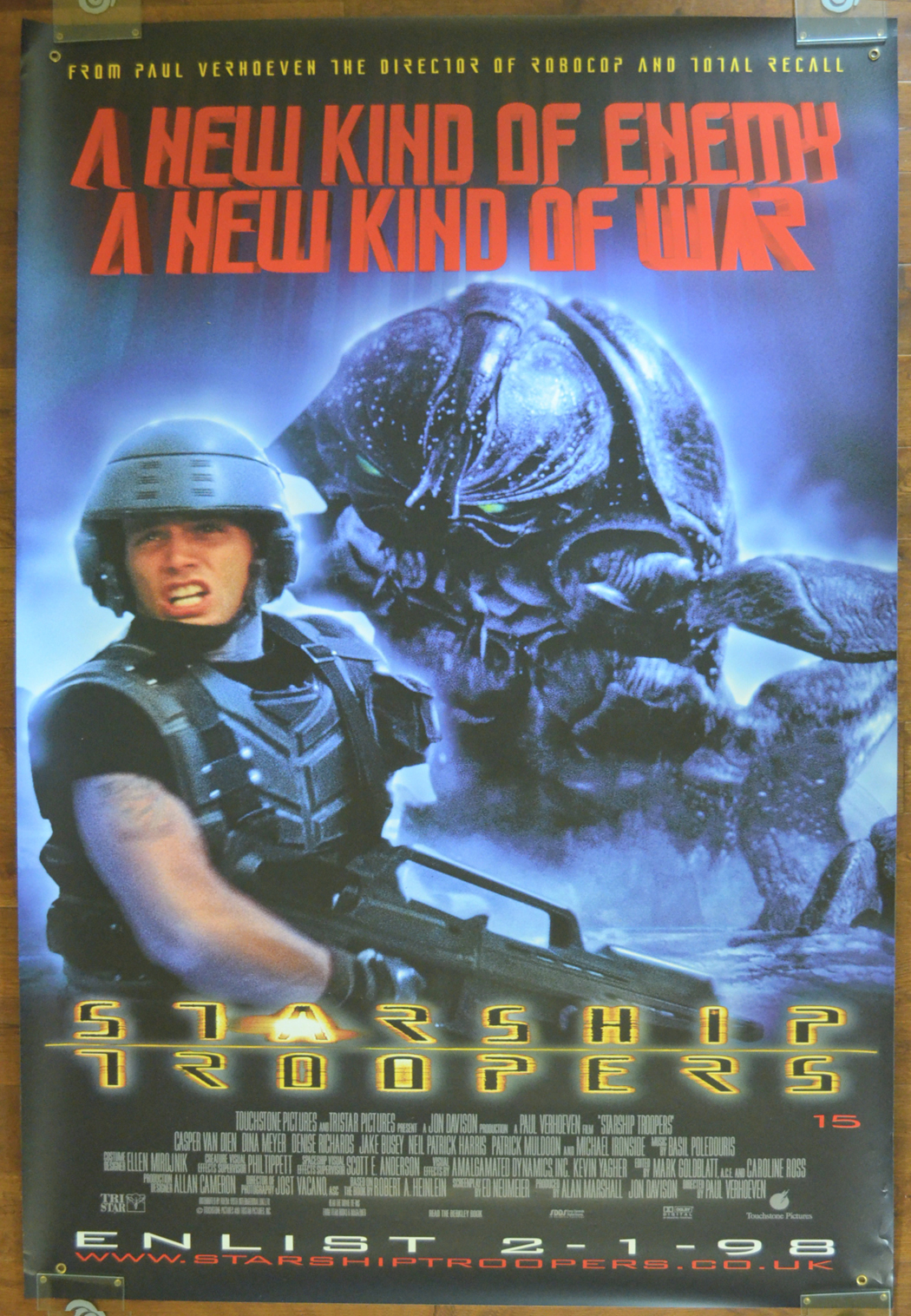 Starship Troopers Cinema Banner Original Cinema Movie