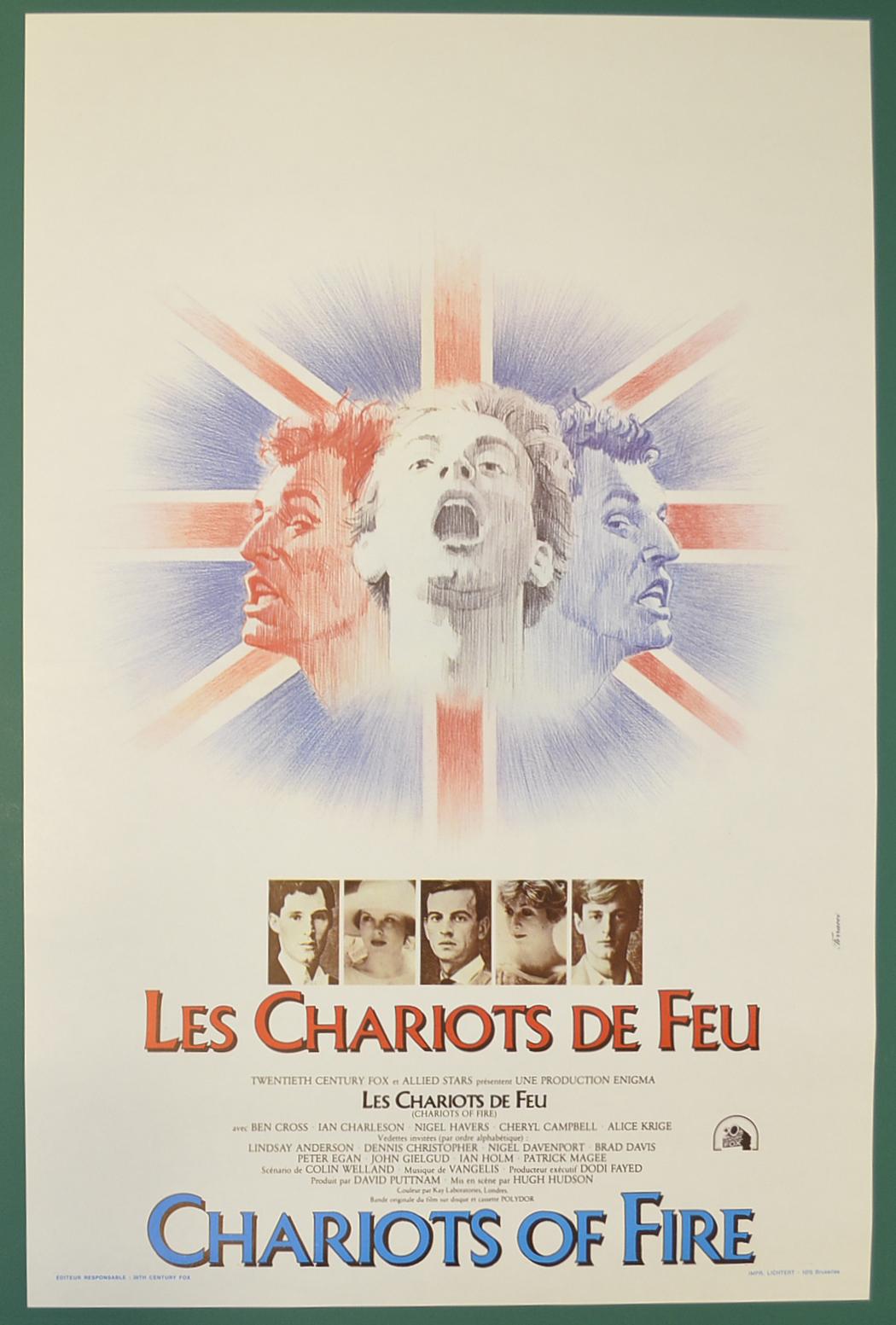 Chariots Of Fire Original Belgian Movie Poster Original Cinema Movie Poster From Pastposters