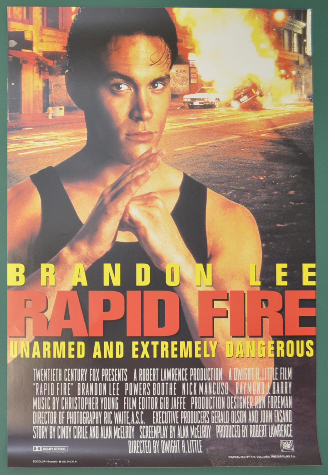 Rapid Fire (Original Belgian Movie Poster) - Original ...