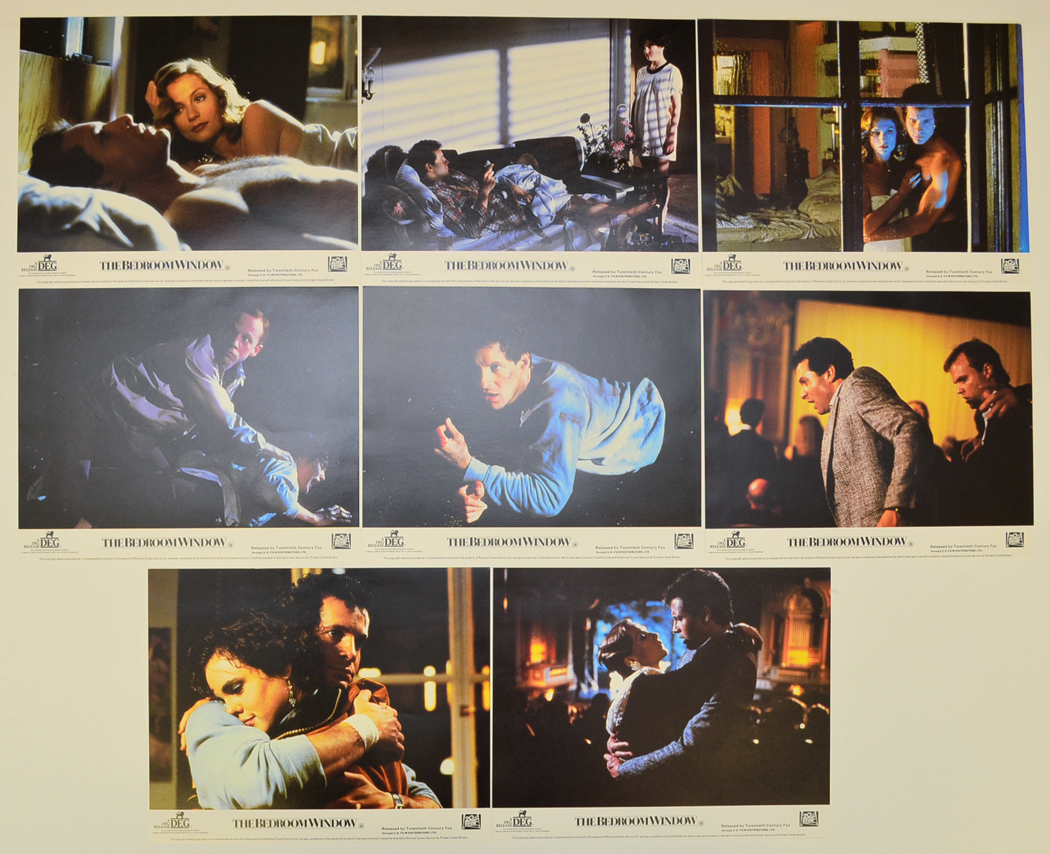 bedroom window the set of 8 original lobby cards colour front of