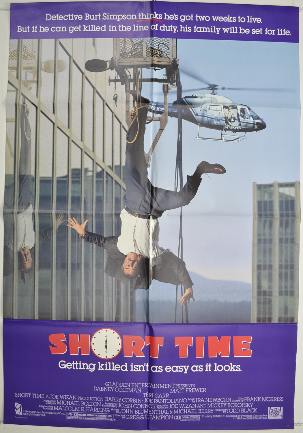 Short Time Original Cinema Movie Poster From Pastposters