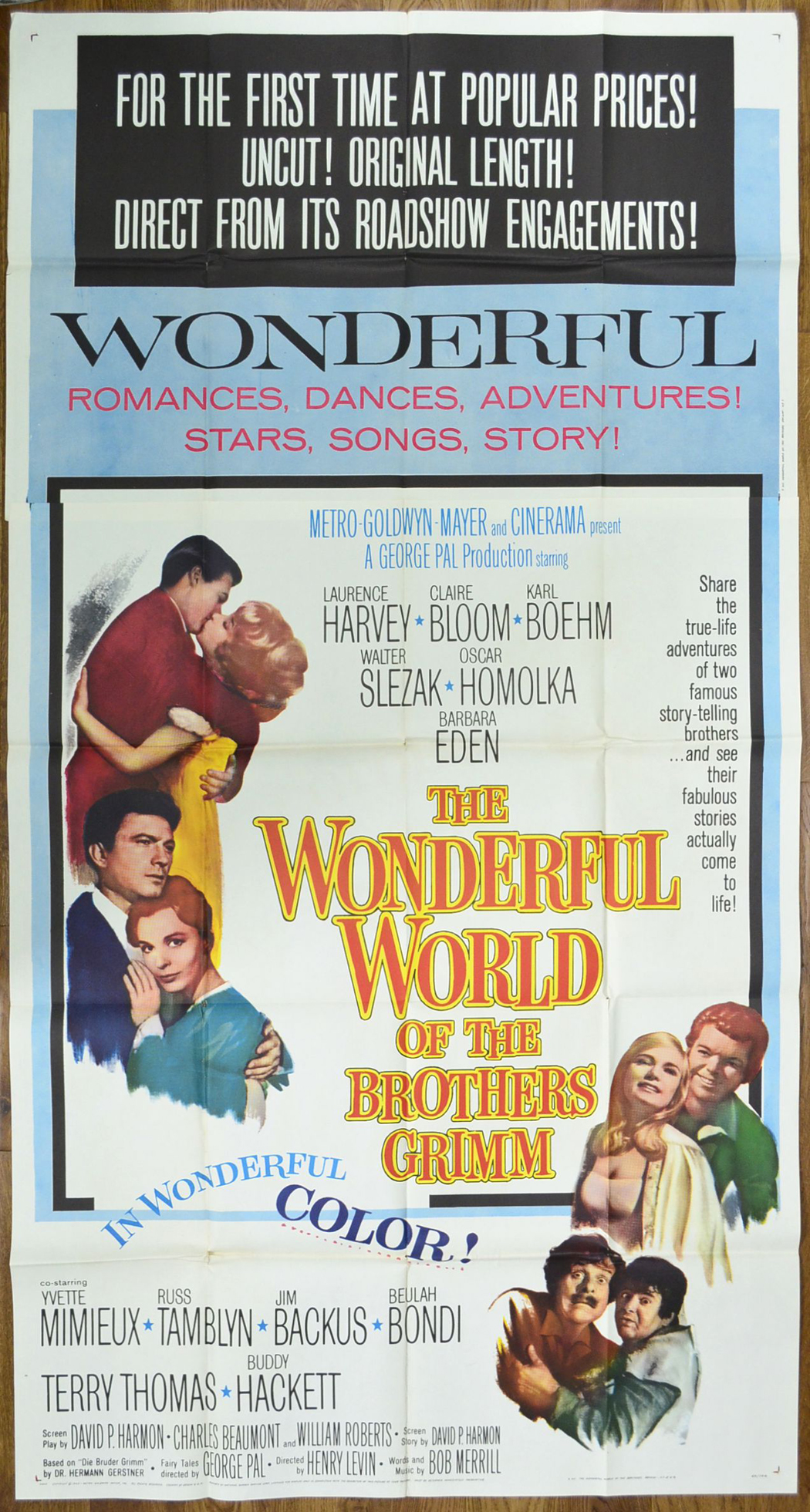 Wonderful World Of The Brothers Grimm (The) - Original Cinema Movie Poster From pastposters.com ...