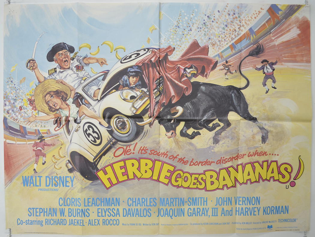 Herbie Goes Bananas - Original Cinema Movie Poster From ...