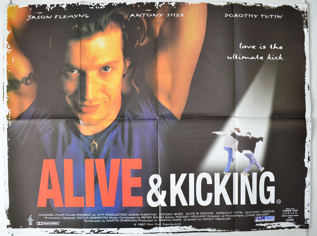 Movie Posters 1997: ALIVE AND KICKING (1997) Cinema Quad Film Poster